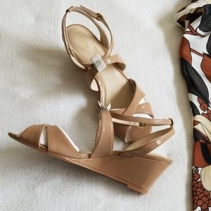 Strappy wedge heels